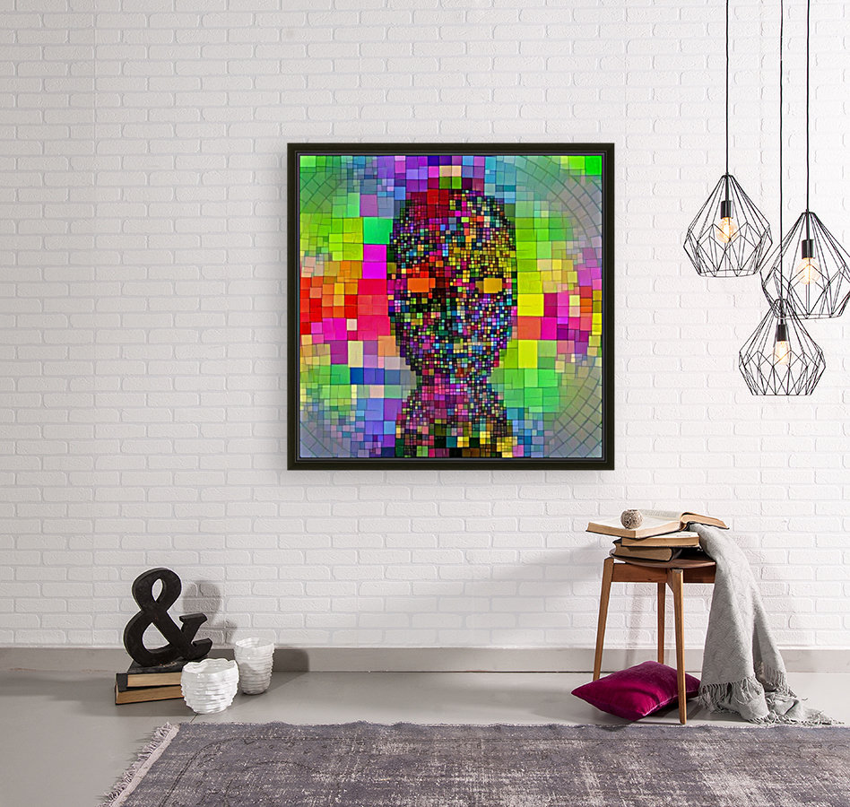 Mysterious Colorful Mask  Art