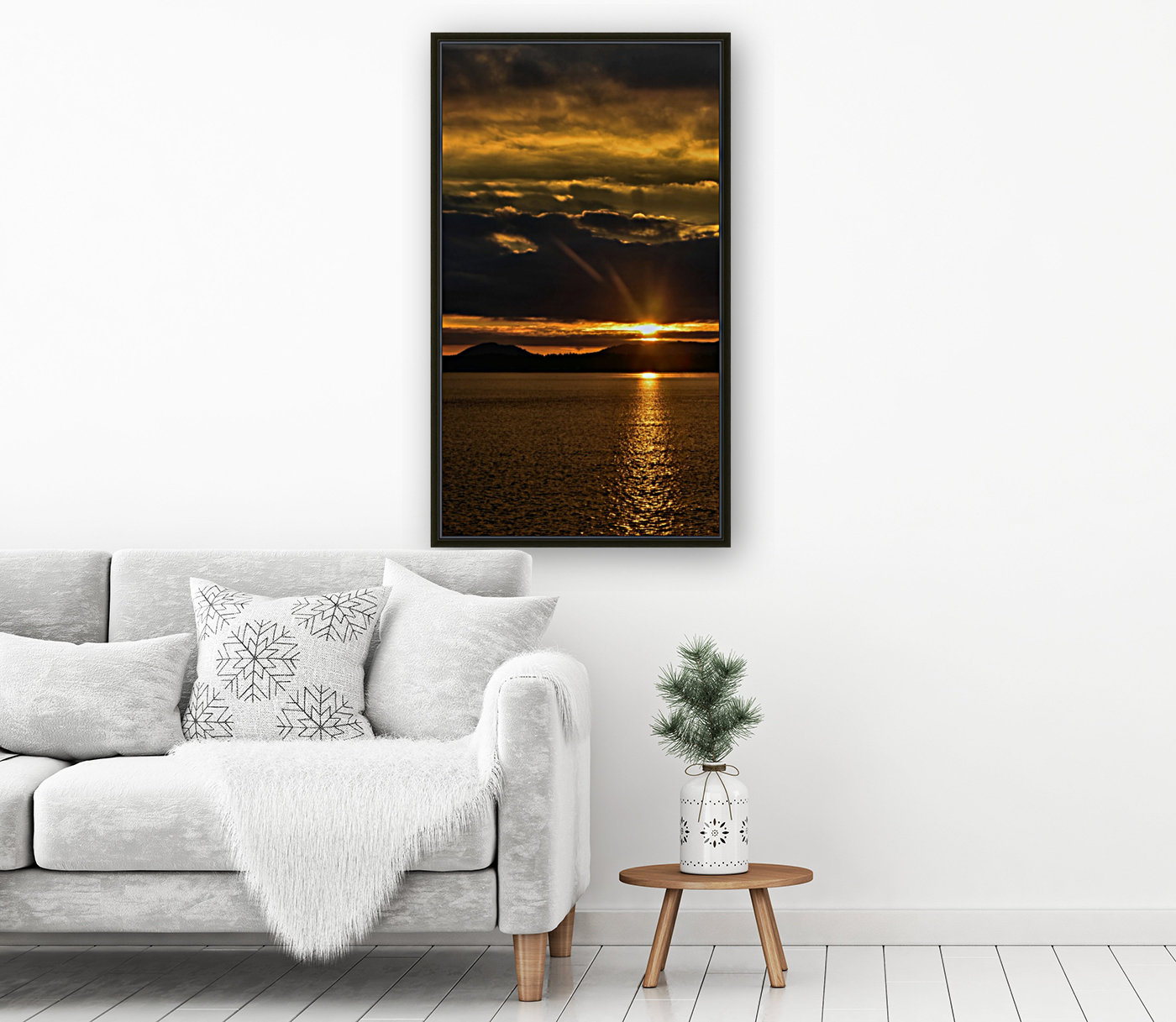 Good morning sunshine with Floating Frame