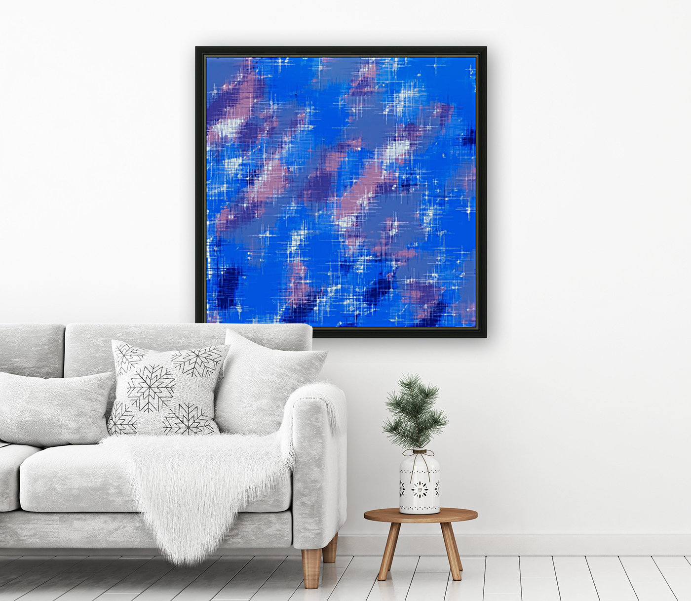 painting texture abstract background in blue pink  Art