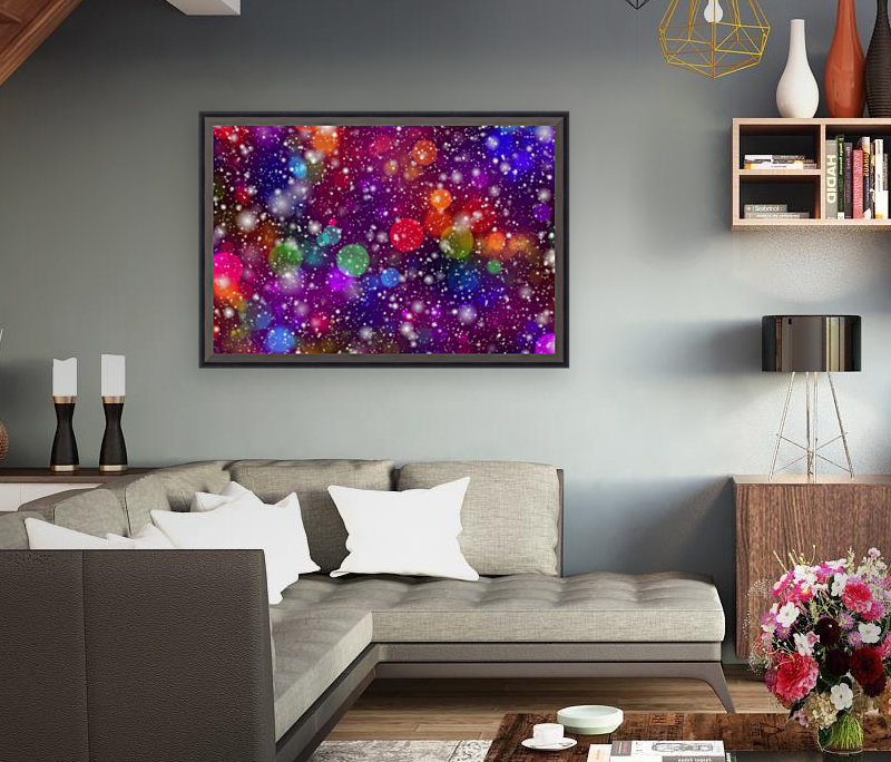 background, abstract, bokeh, lights, decoration, star, party, colorful, confetti,  Art