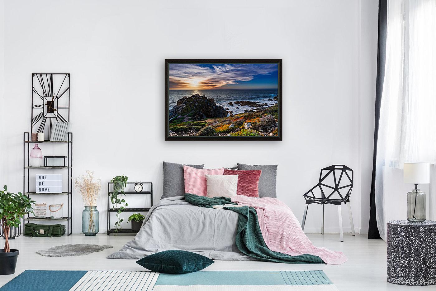 sea, seashore, water, nature, sky, blue, summer, landscape, colorful, clouds, sunset, outdoor,  Art