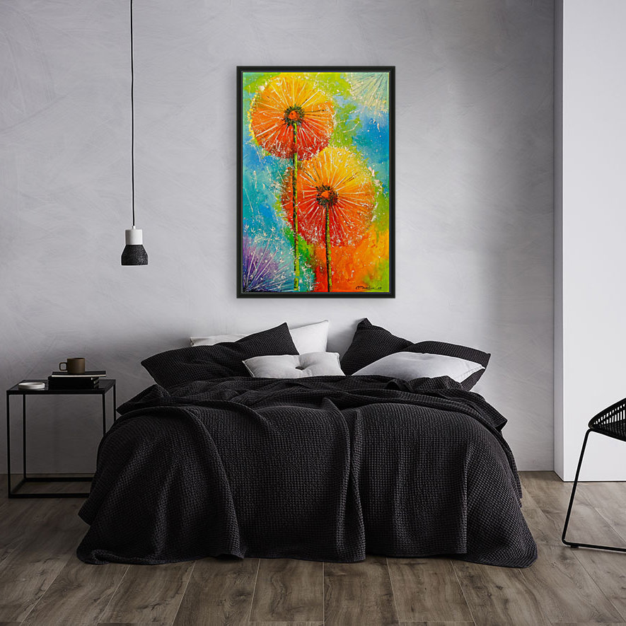 Dandelions with Floating Frame