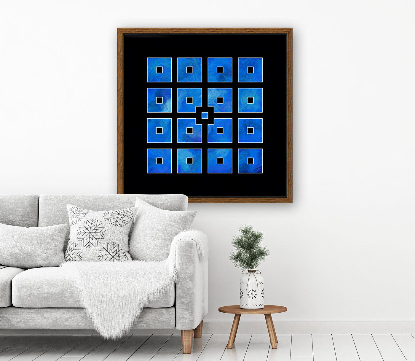 Elora de sous - squares of sea  Art
