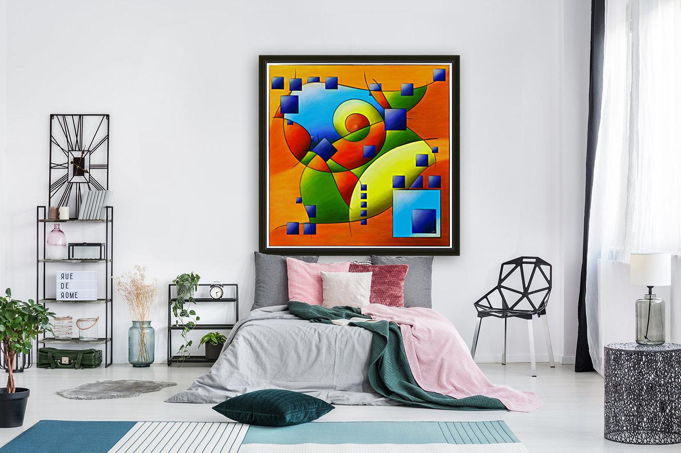 Fantisimella - colourful birdy abstract  Art