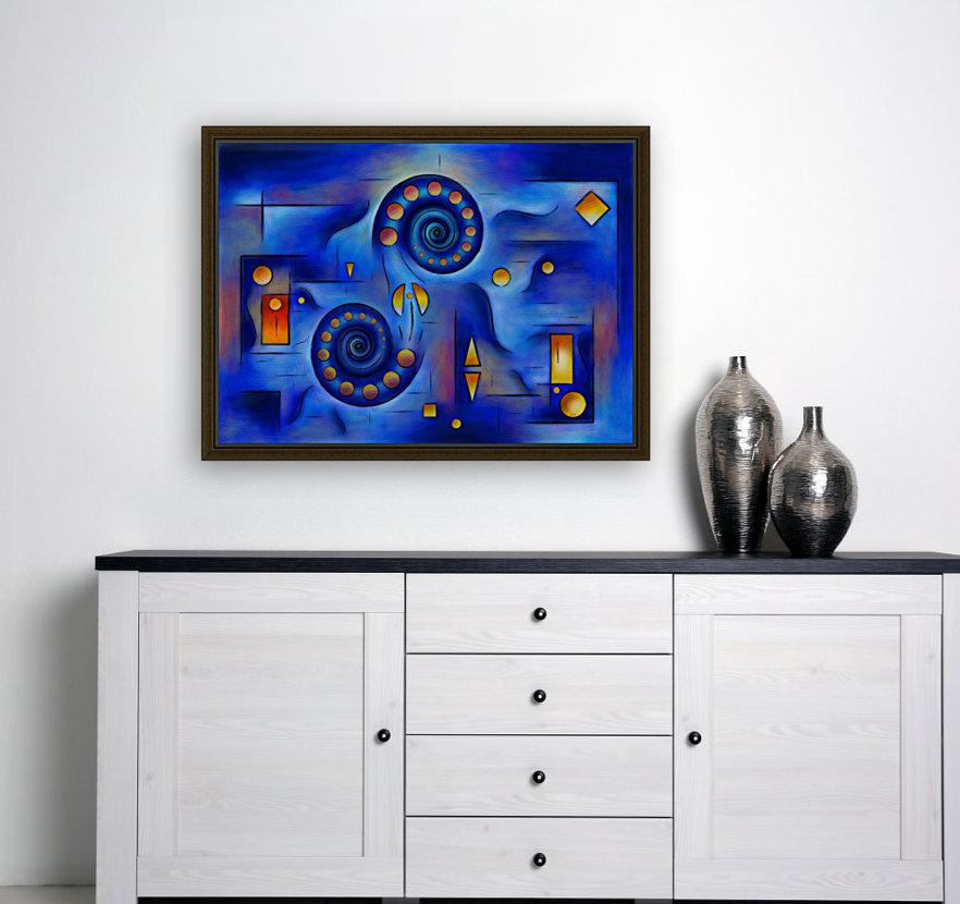Grefenorium - blue spiral world  Art