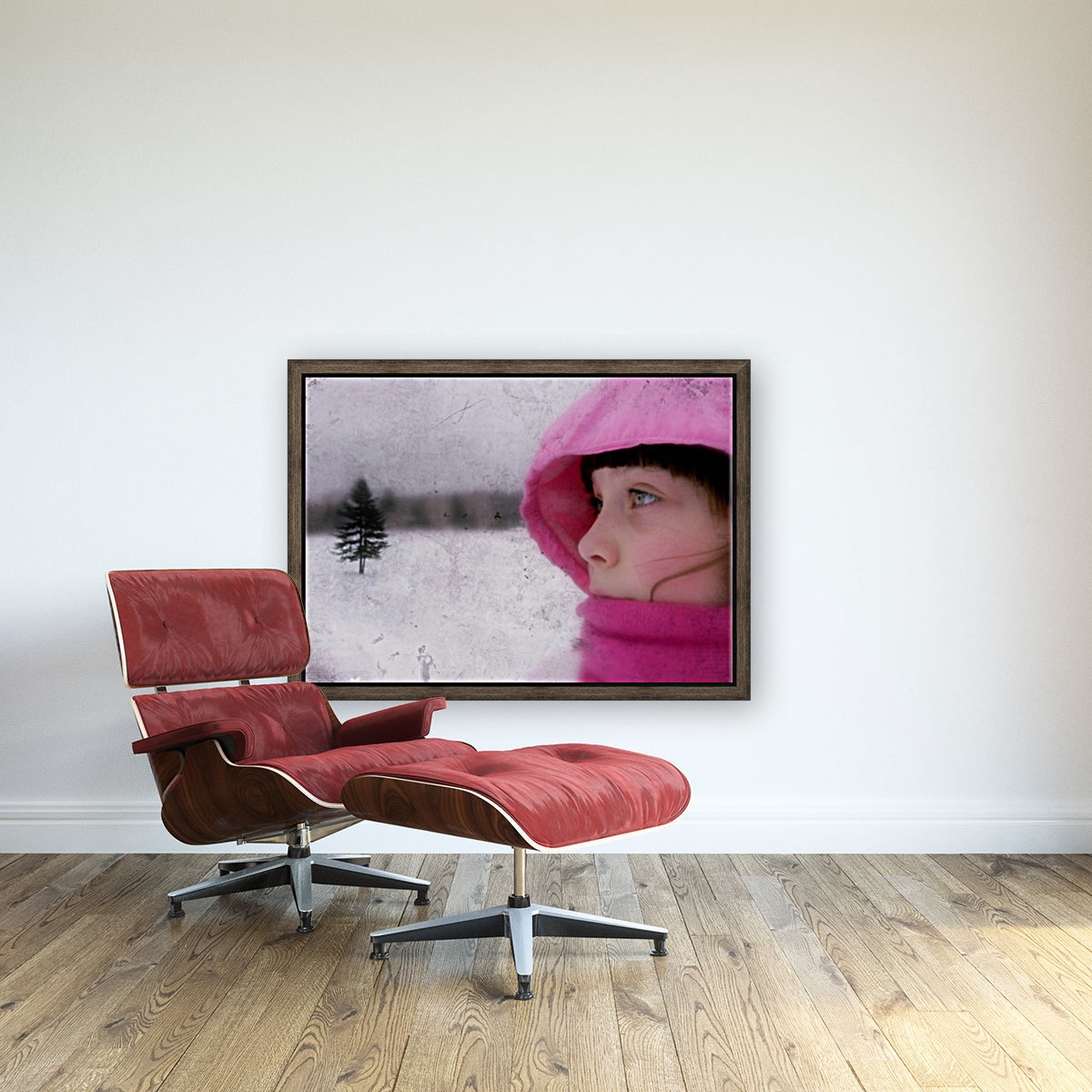 Winter pink with Floating Frame