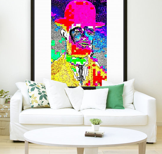 Man with the Pink Bowler Hat by neil gairn adams   Art
