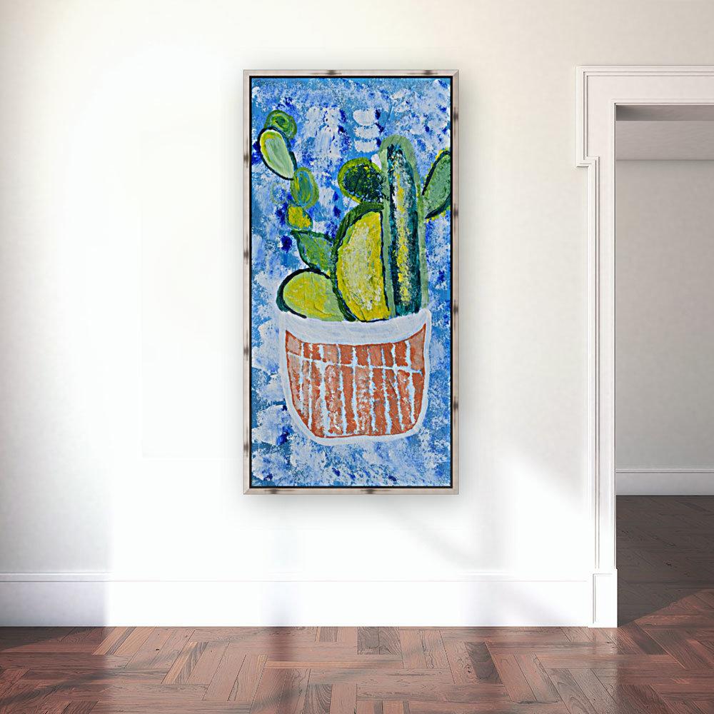 Bluebonnet cactus. Molly H  Art