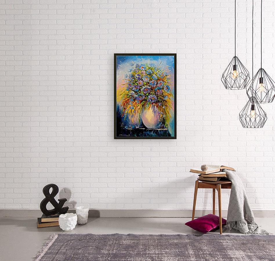 A bouquet of blue flowers  Art