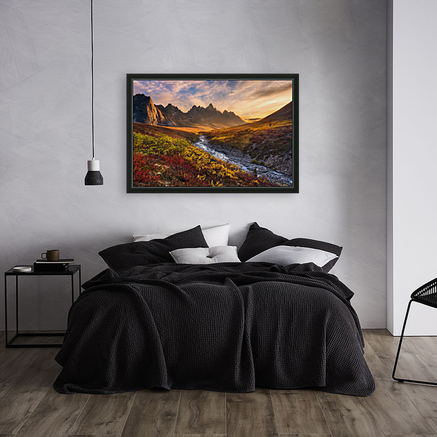 Mountain Paradise with Floating Frame