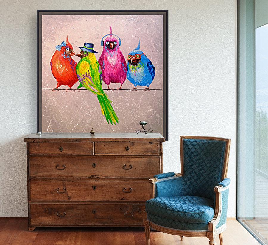 Cheerful company  Art
