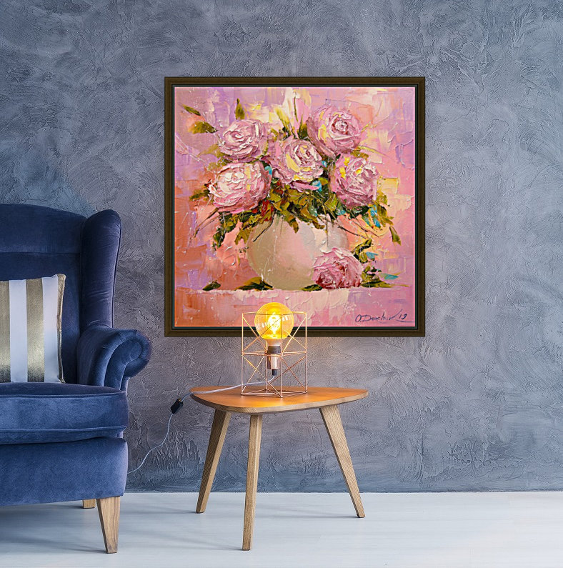 A bouquet of delicate roses  Art