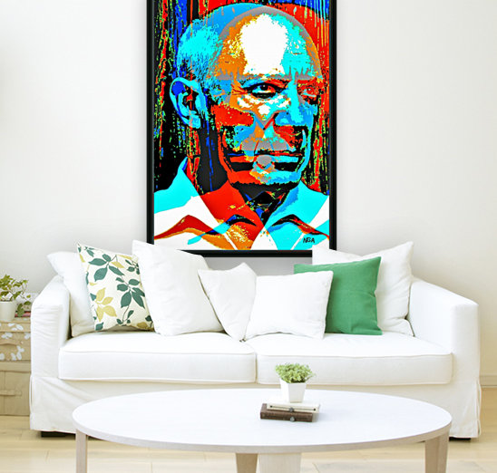 Pablo Picasso - by Neil Gairn Adams with Floating Frame
