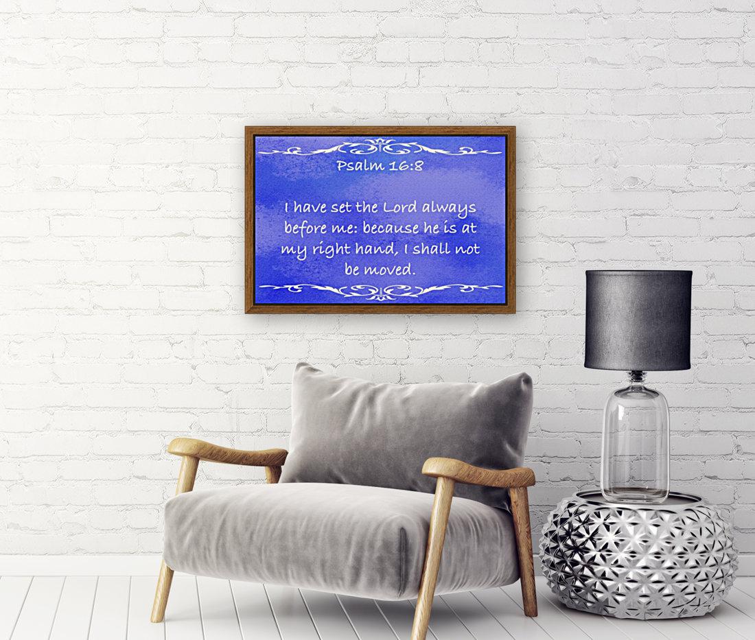 Psalm 16 8 3BL  Art