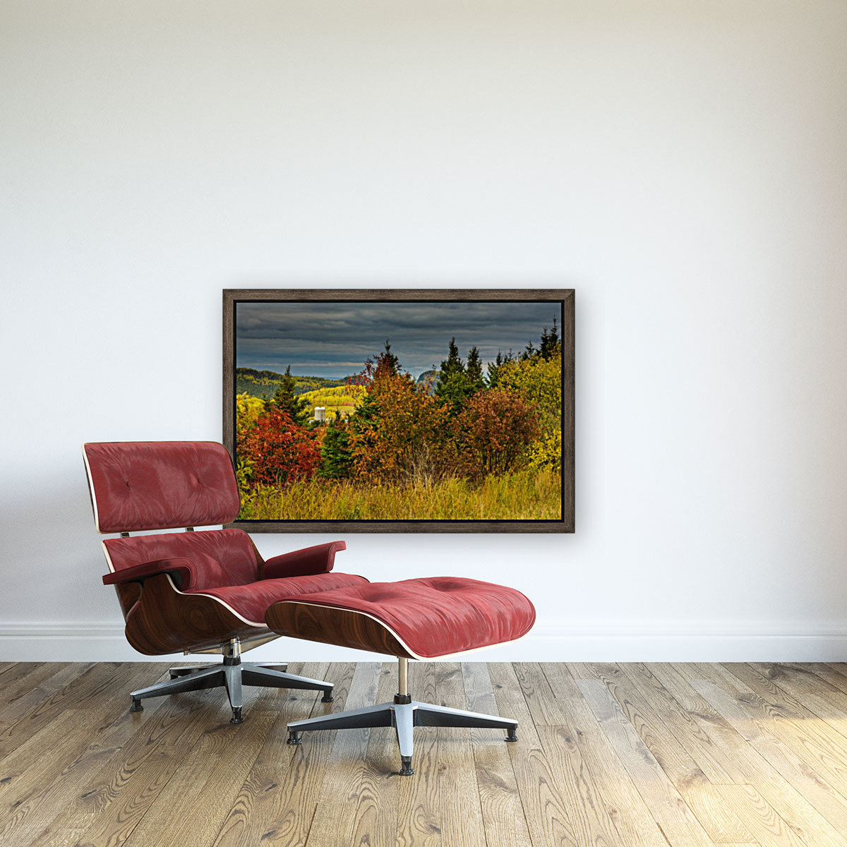 Autumn rainbow with Floating Frame