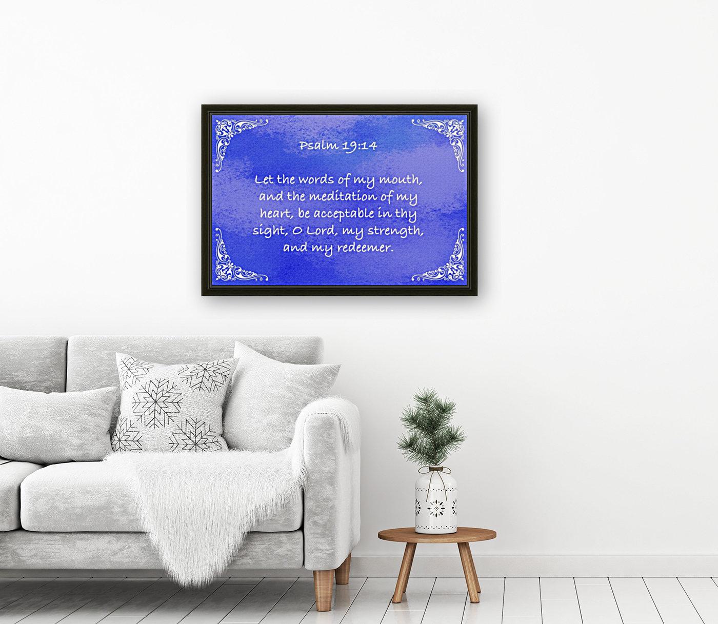 Psalm 19 14 5BL  Art