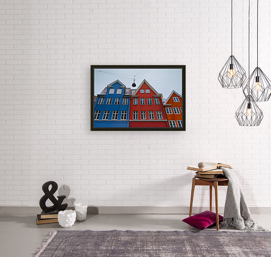 The red and blue house in Copenhagen  Art