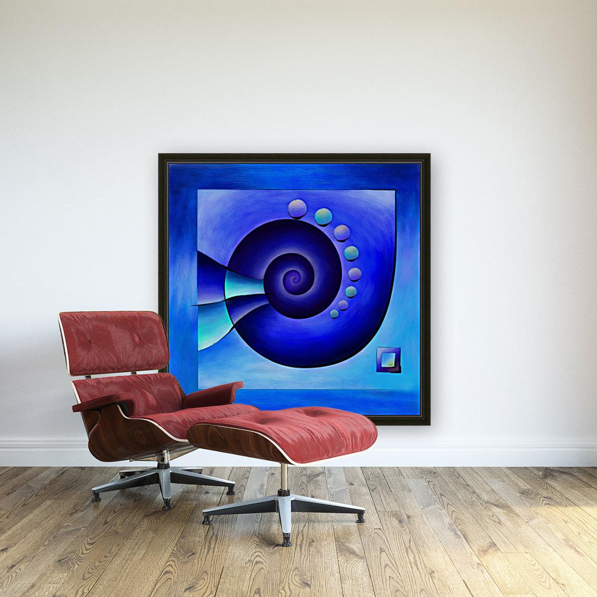 Escanissimera - endlessly limited blue spiral snail  Art