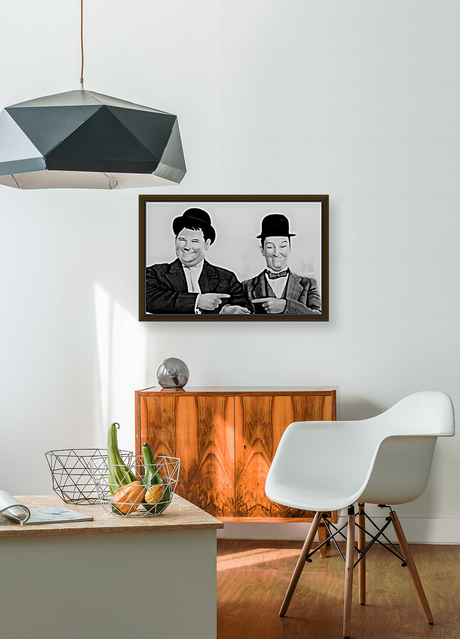 Laurel and Hardy -  by Neil Gairn Adams  with Floating Frame