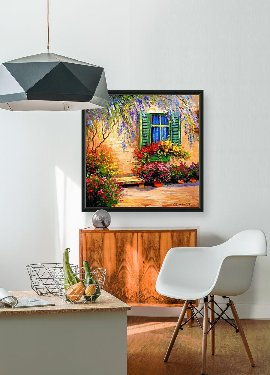 Blooming summer patio  Art