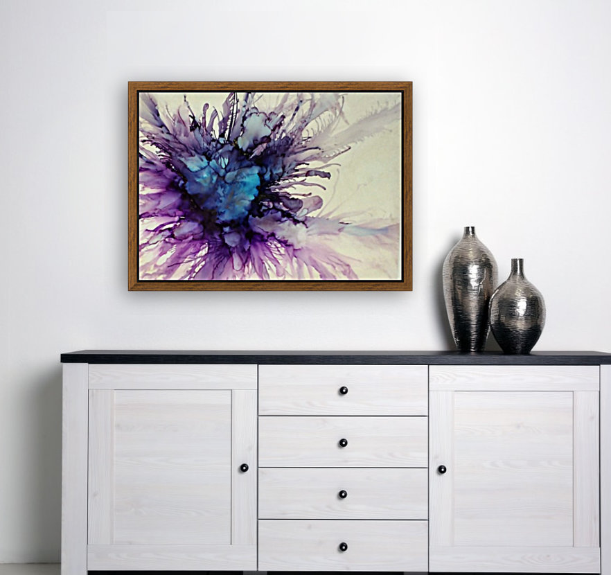 Purple Majesty with Floating Frame