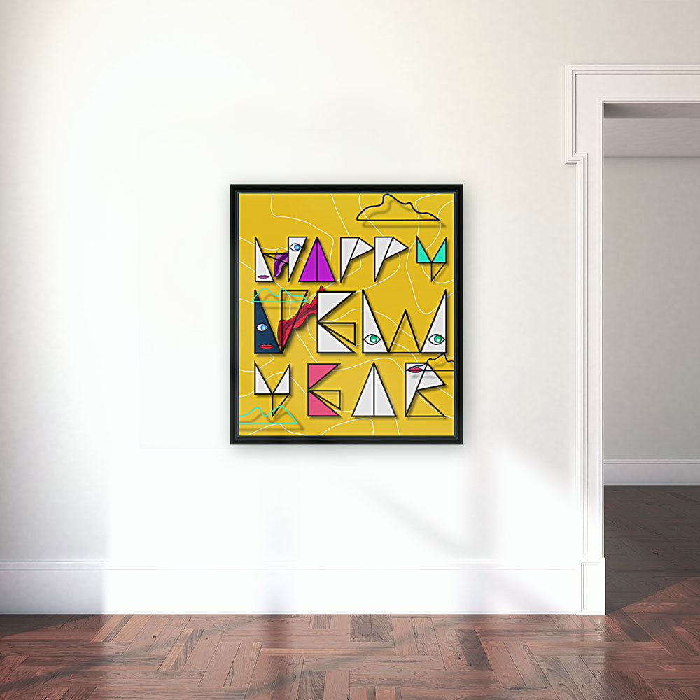 Happy New Year with Floating Frame