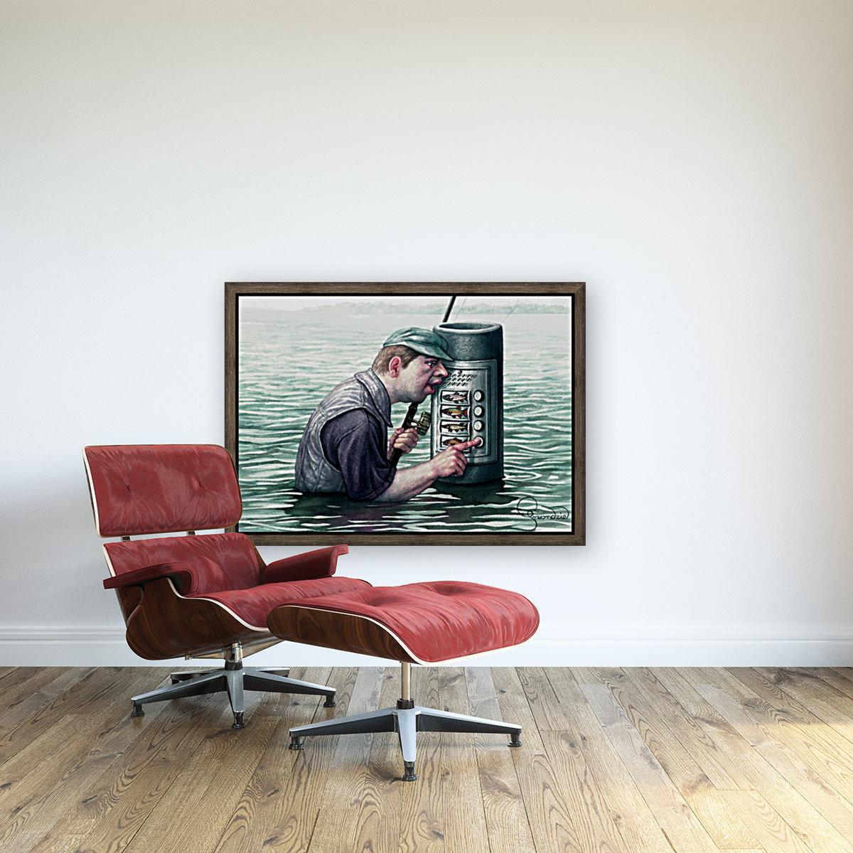 Call for fish by Krzysztof Grzondziel  Art