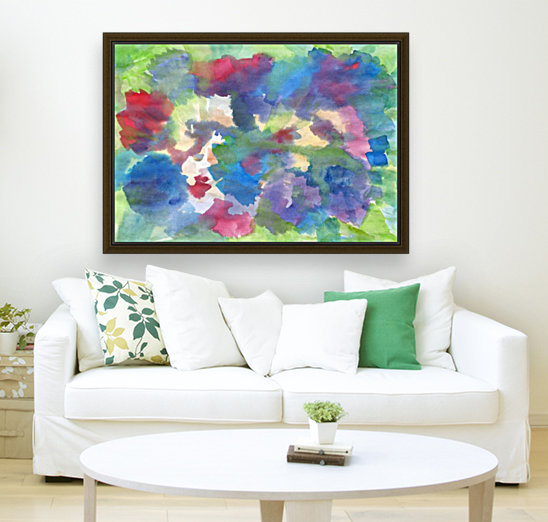 Watercolor abstraction with a blurred floral pattern  Art