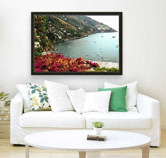Amalfi Coast landscape  with Floating Frame