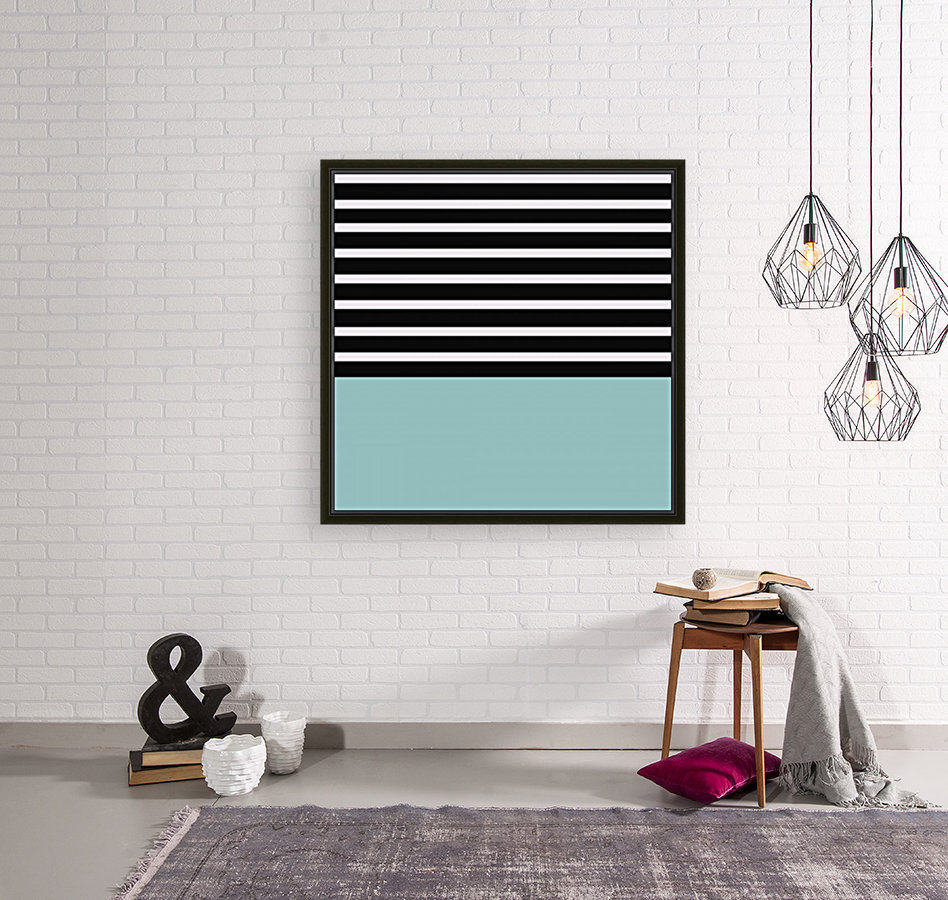 Black & White Stripes with Mist Patch  Art