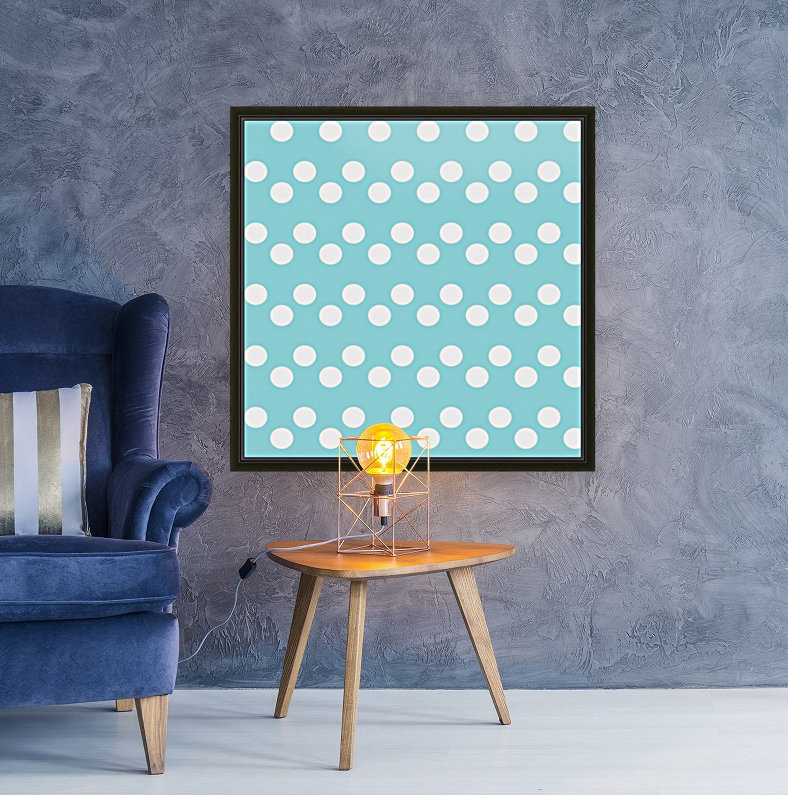 Island Paradise Polka Dots with Floating Frame