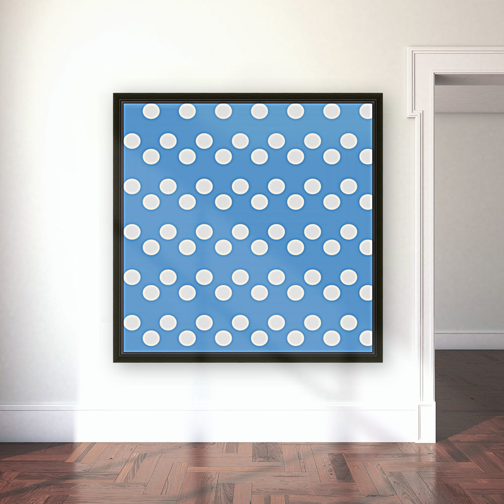 CORNFLOWER Polka Dots  Art