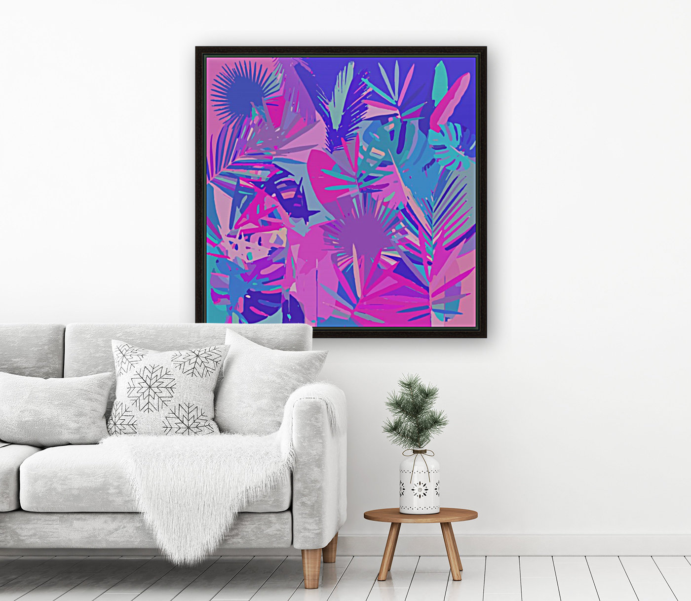 Tropical Leaves Abstract   Art