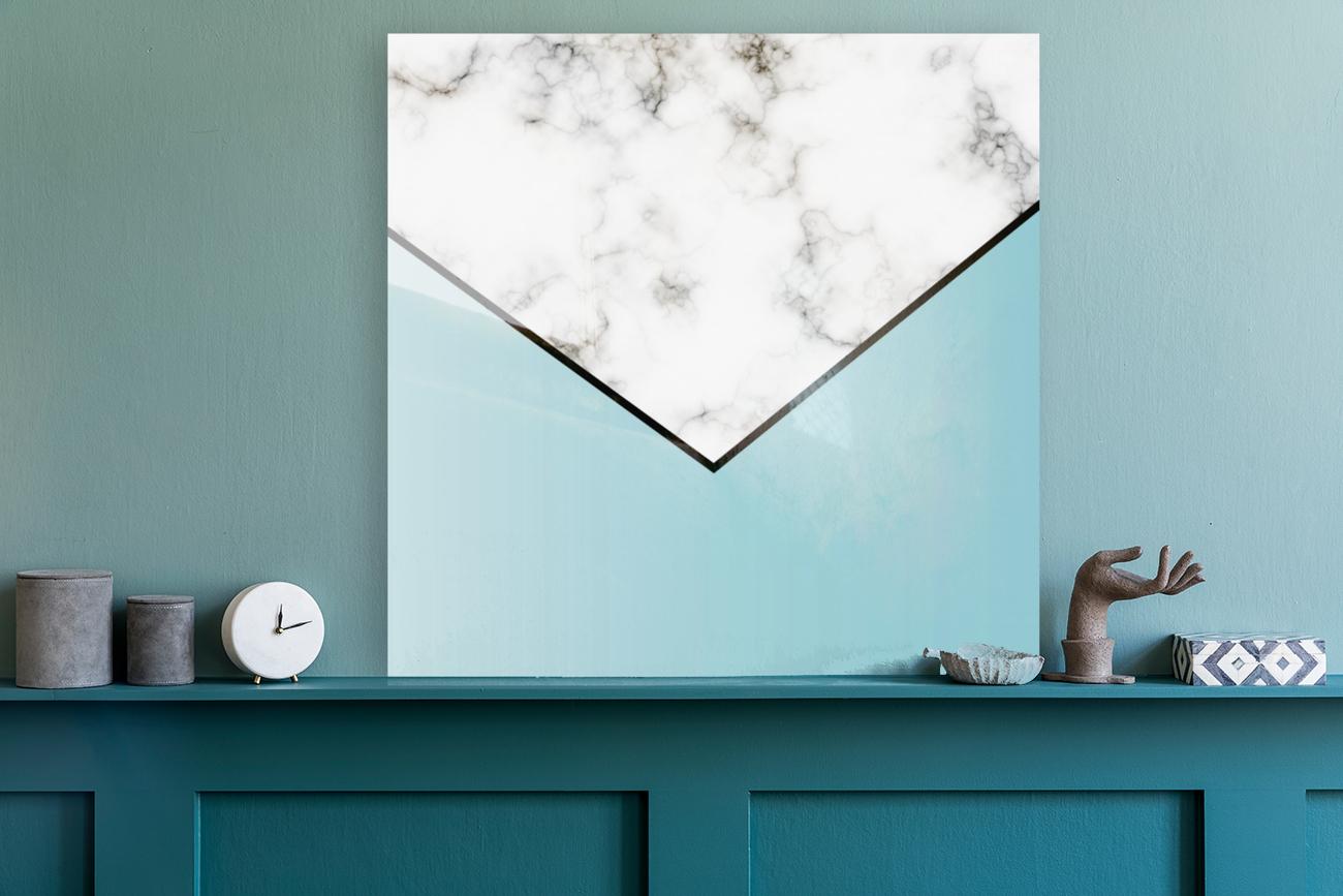 ABSTRACT BLUE TINT MODERN MARBLE  Art
