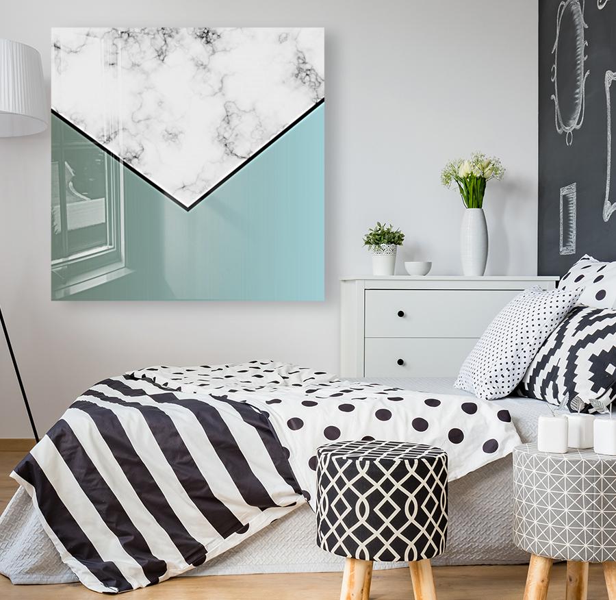 ABSTRACT GRAYISH BLUE MODERN MARBLE  Art