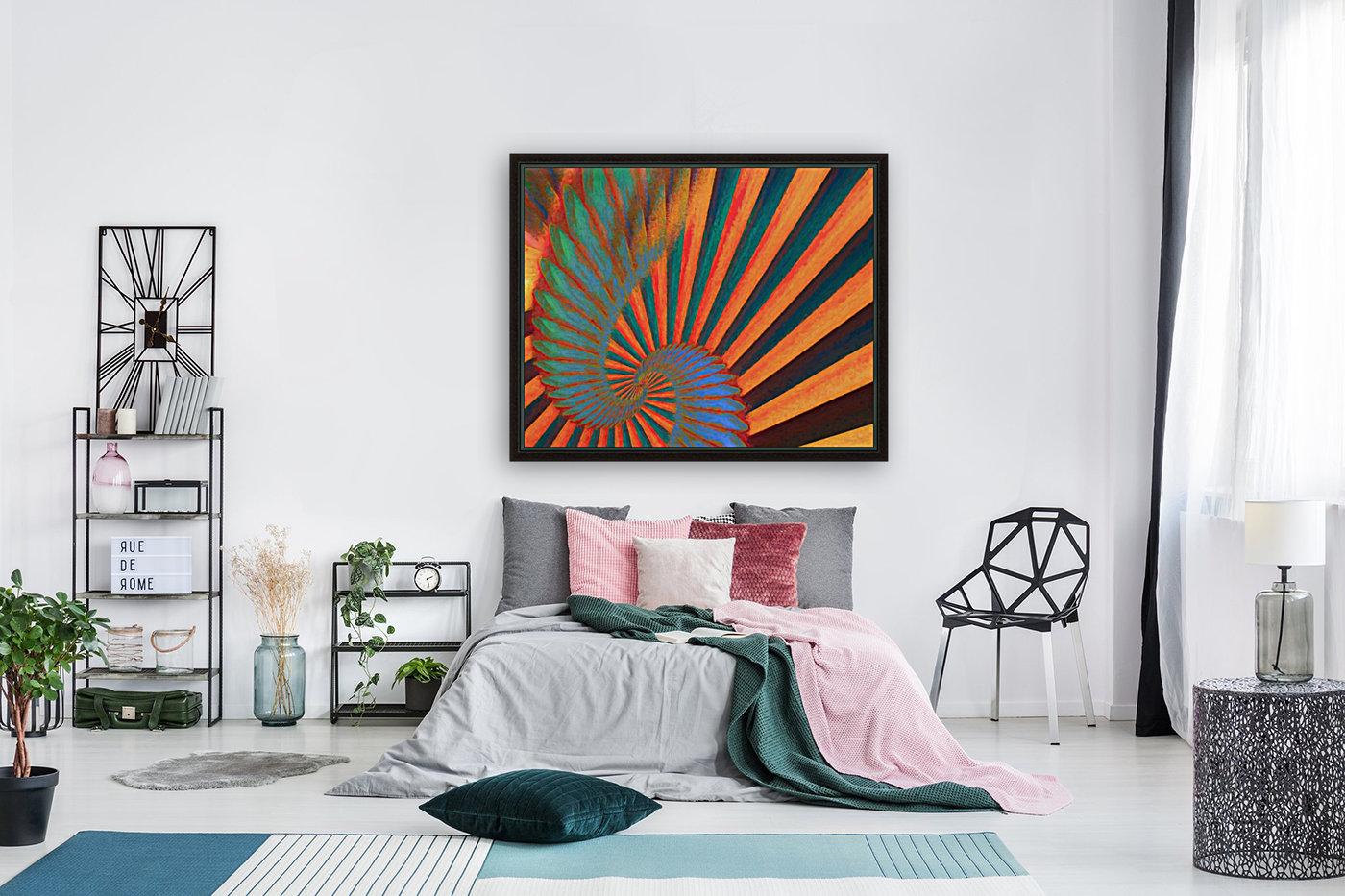 Composition in Orange Blue & Green  Art
