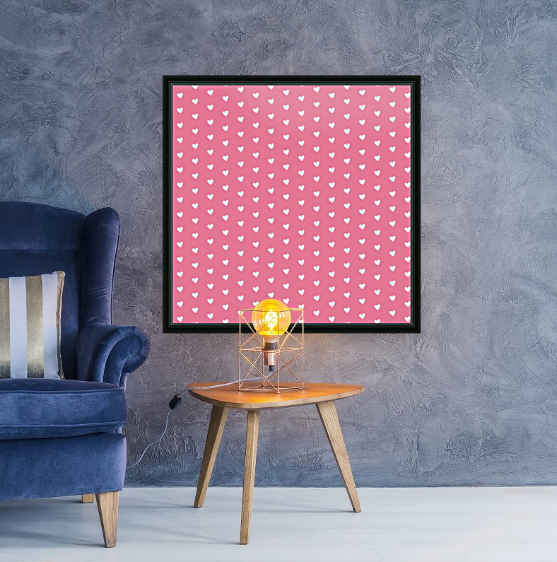 Pink Sherbet Heart Shape Pattern  Art