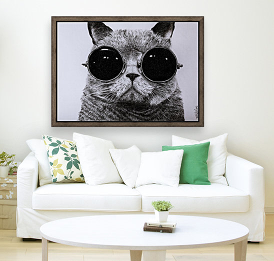 The Cat with glasses  Art