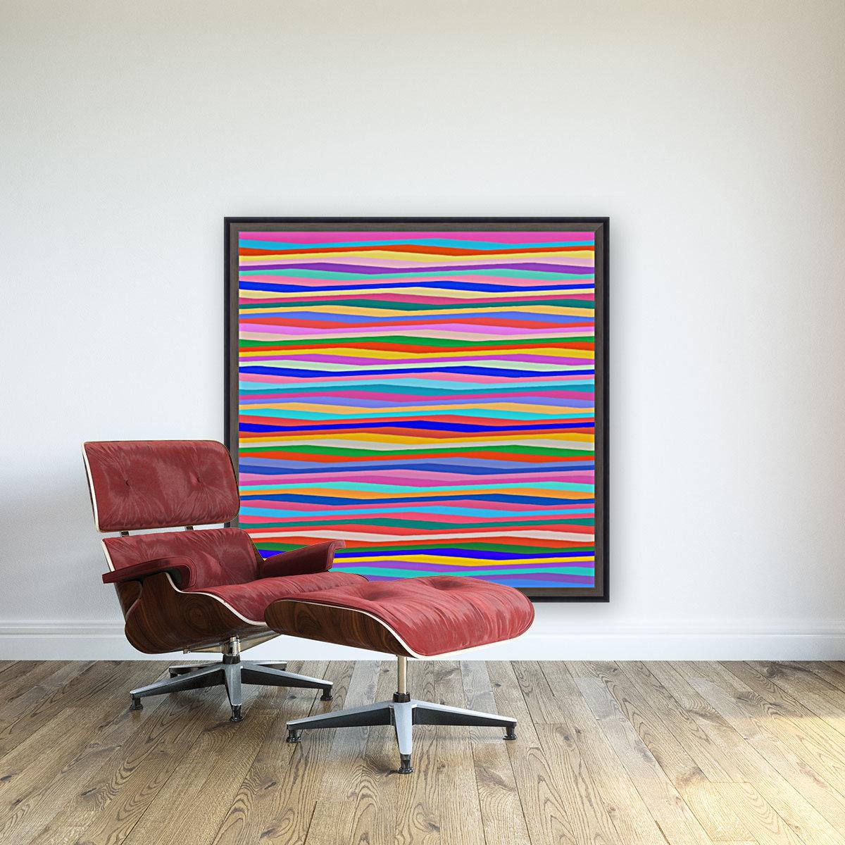 Wavy Stripes Abstract   Art