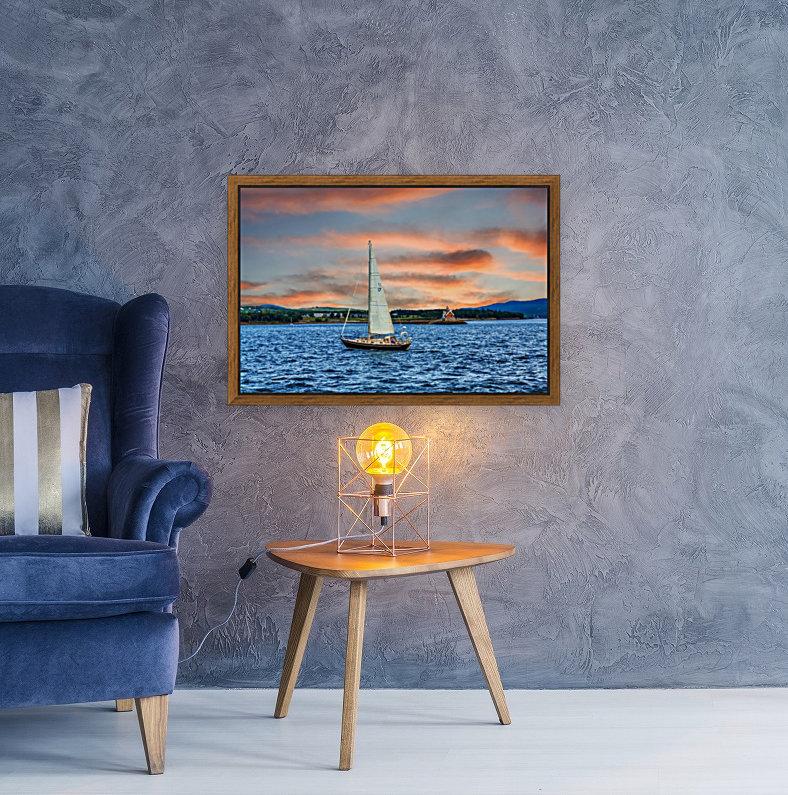 Sailboat and Lighthouse  Art