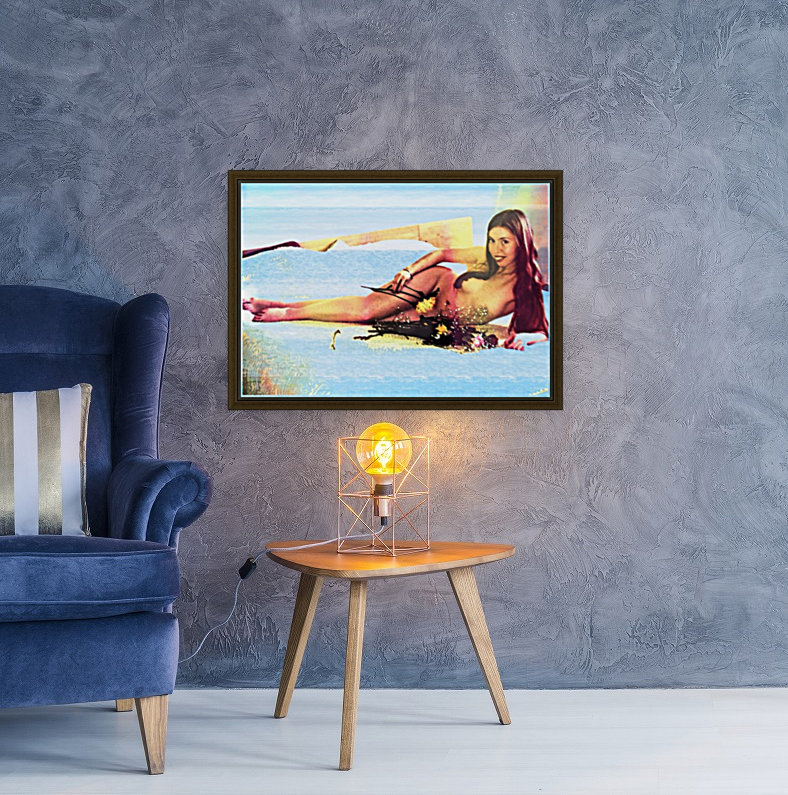 a mermaid in her home  Art