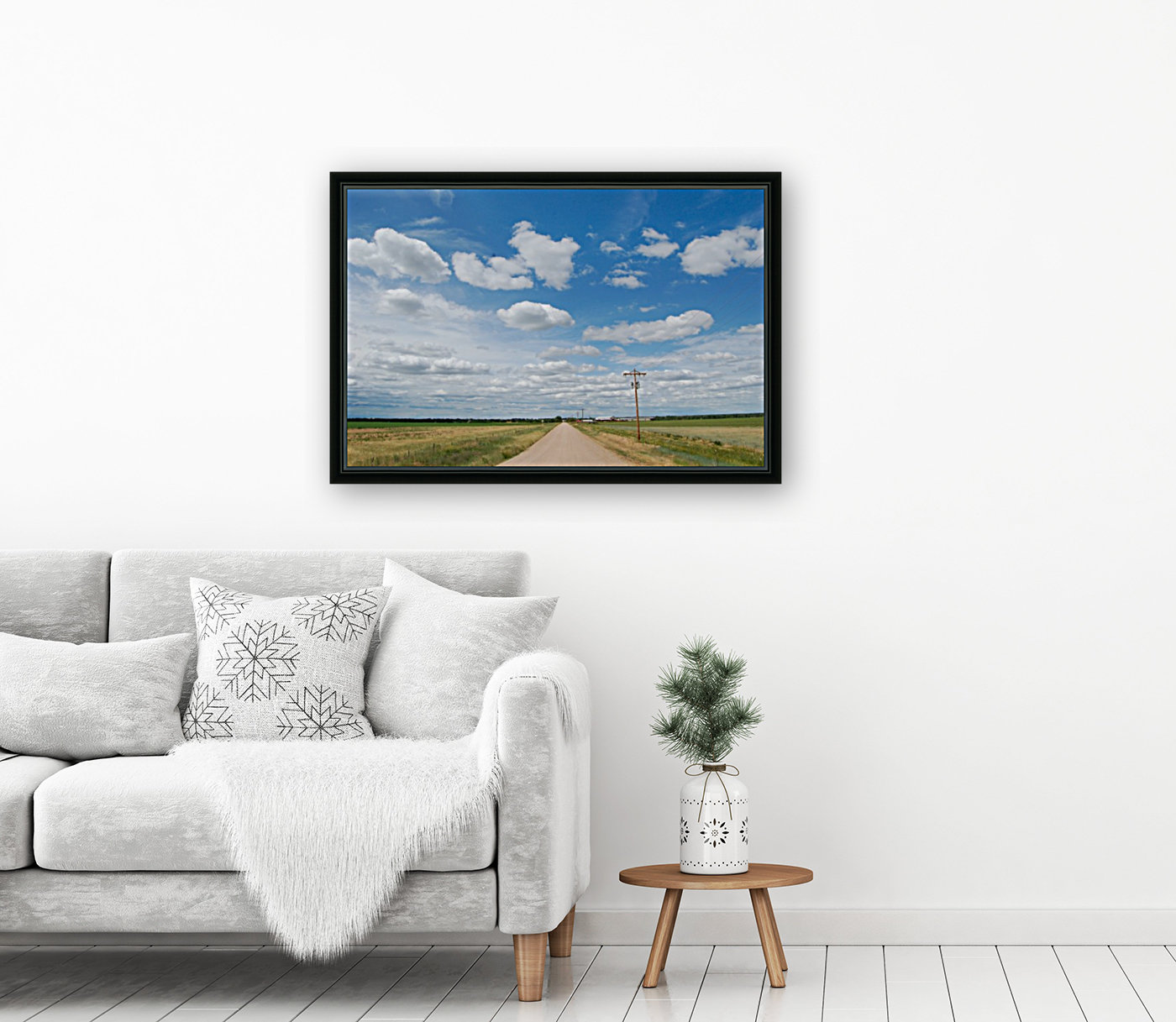 Country Road with Floating Frame
