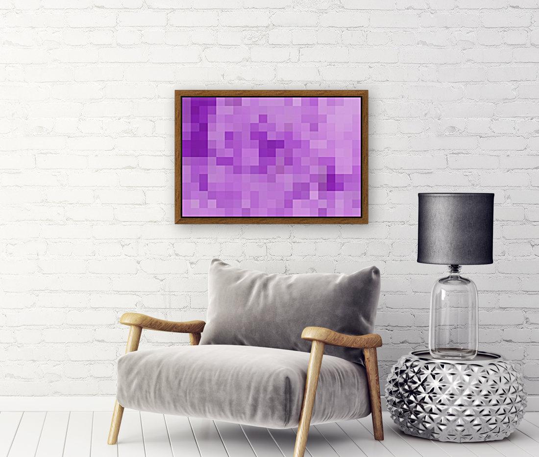 Abstract Pixel Art - Purple Shades  Art