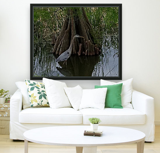Heron with Floating Frame
