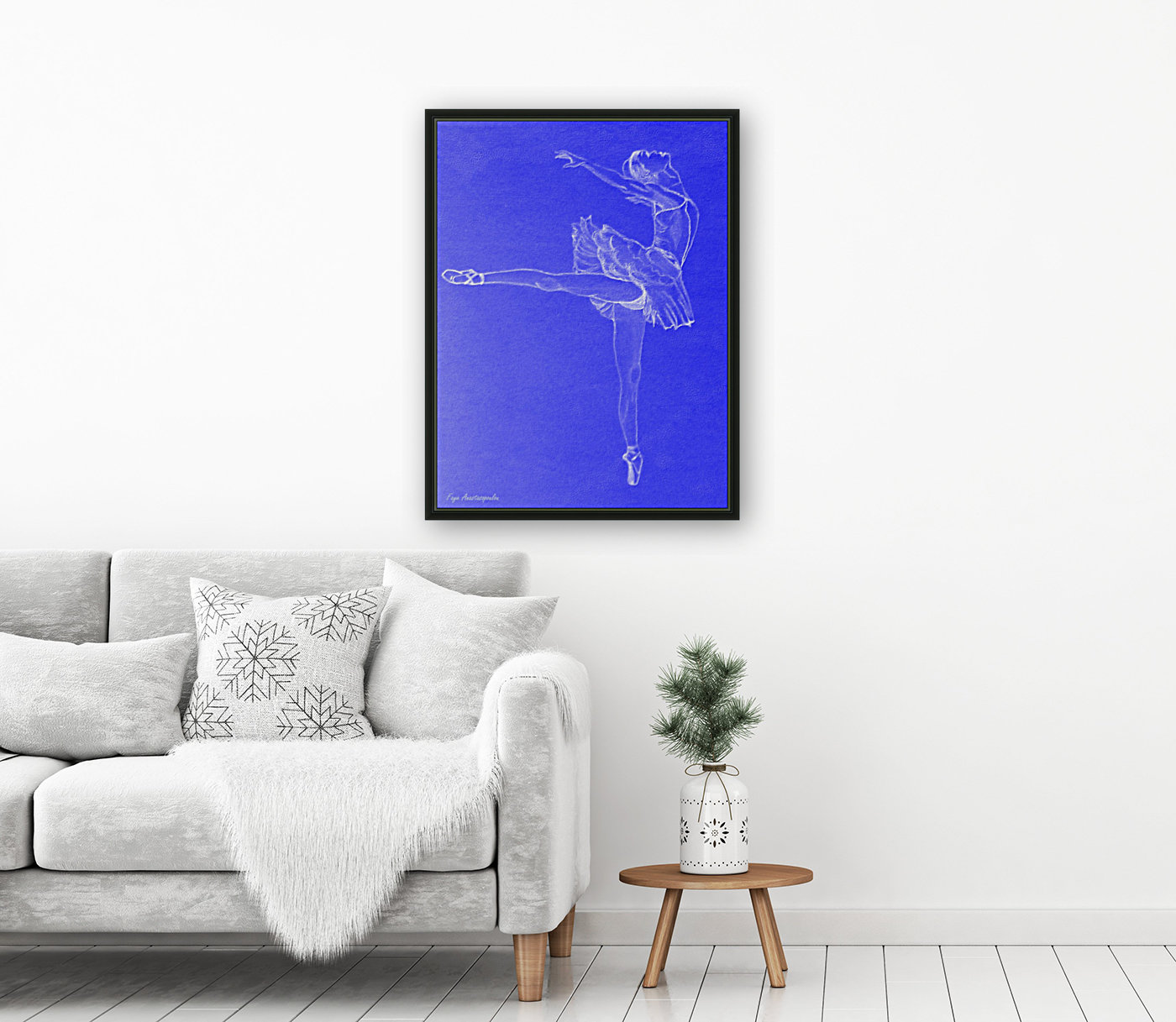 Celestial Ballerina with Floating Frame