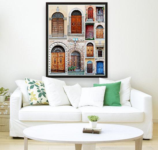 Italian Wooden Doors Collage  Art