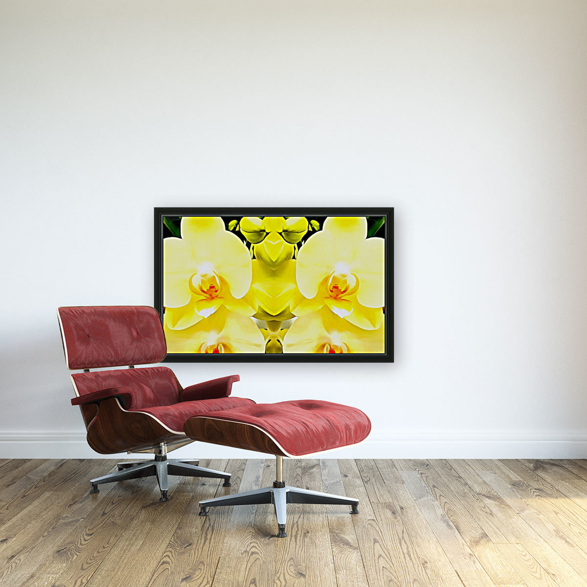 Yellow Orchid Pattern  Art