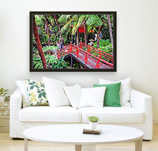 Oriental Gardens Madeira 1 with Floating Frame
