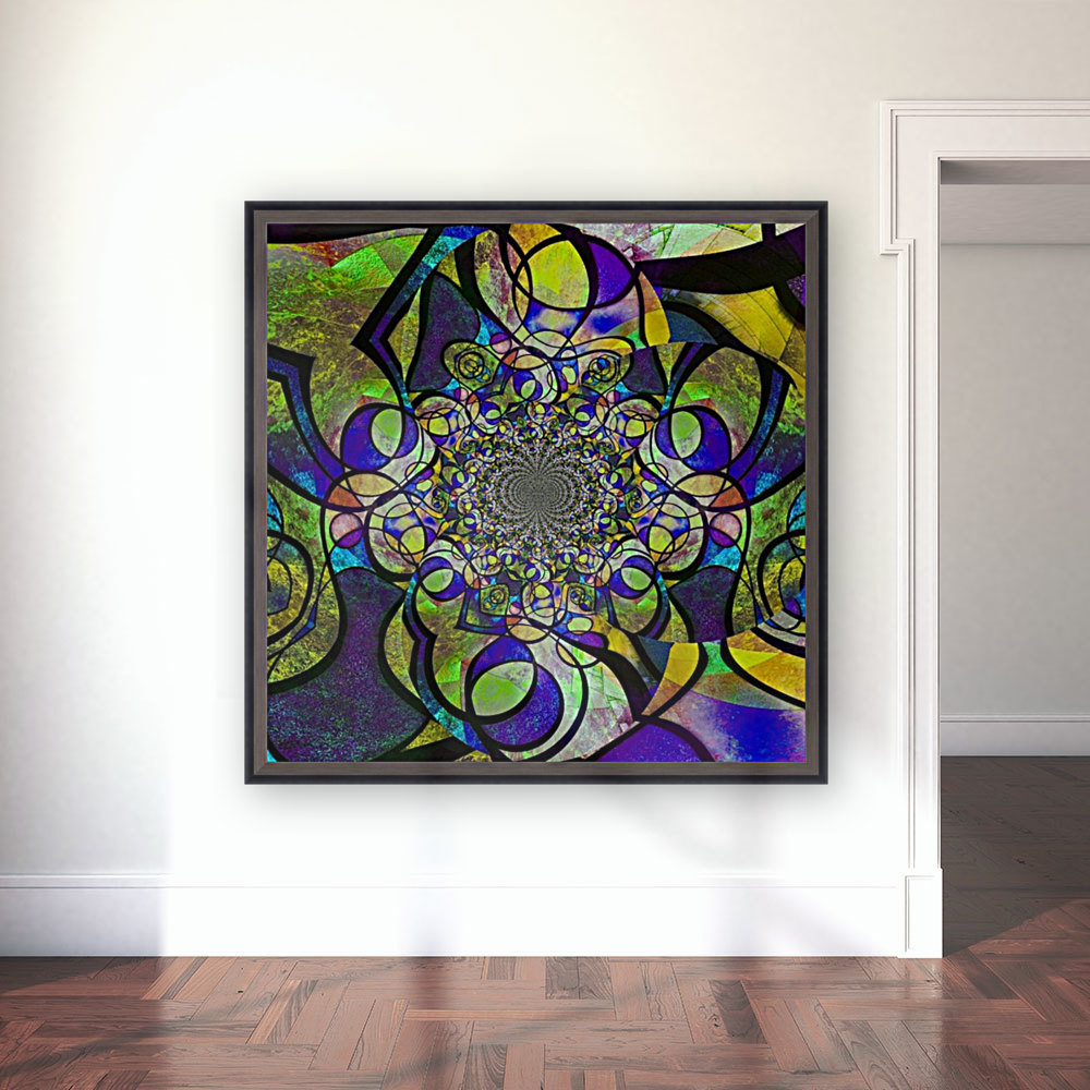 Abstract Fractal with Floating Frame