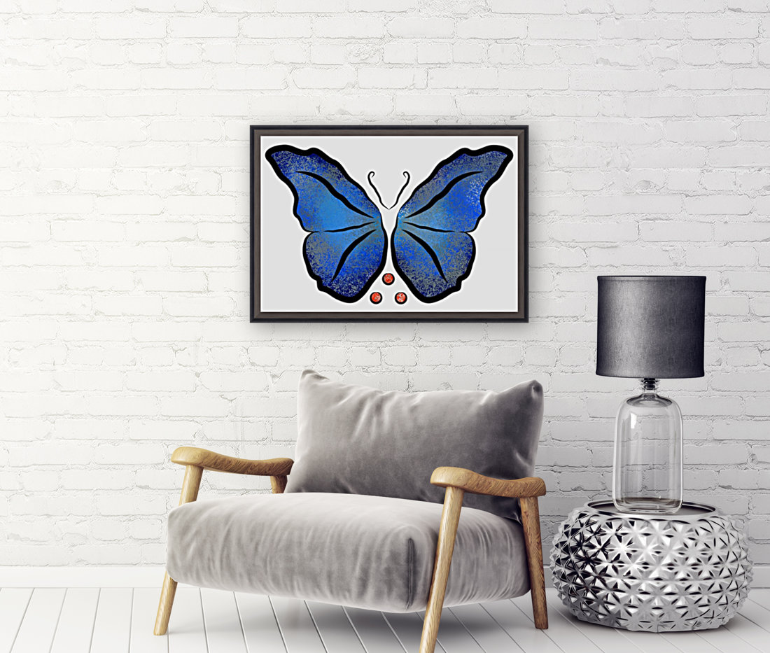 Deonioro - deep blue night butterfly with pearls  Art
